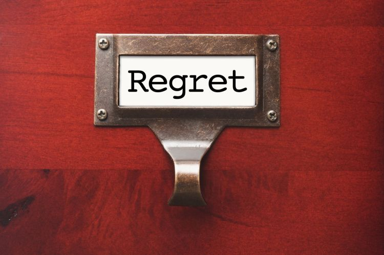 Are you filing away too many regrets?